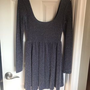Only Worn Once Free People Blue Sparkly Dress